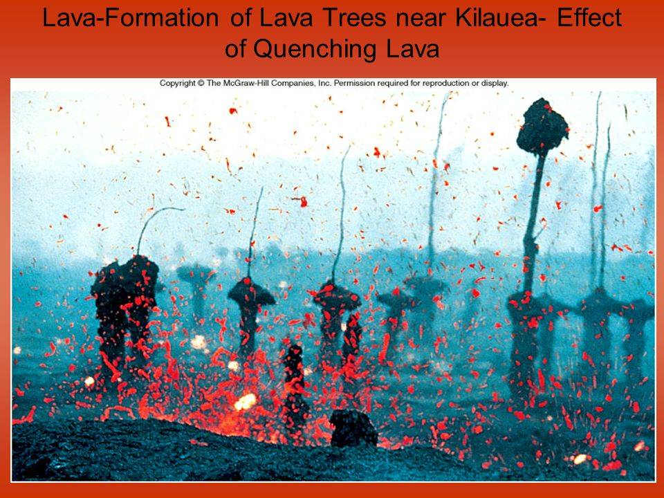 Lava-Formation of Lava Trees near Kilauea- Effect of Quenching Lava