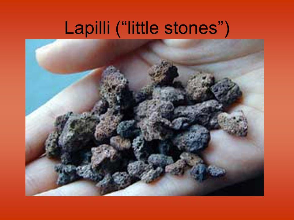 Lapilli ( little stones )