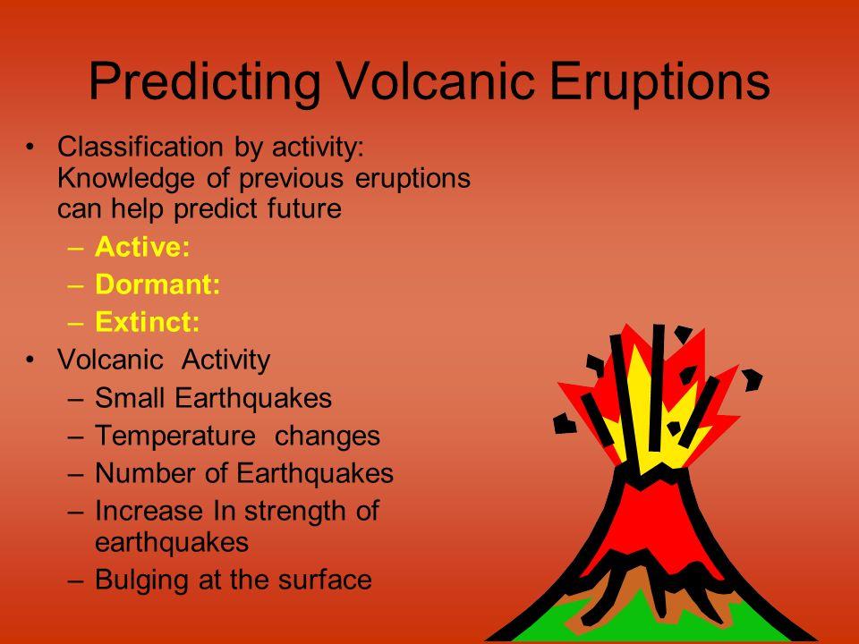 Predicting Volcanic Eruptions