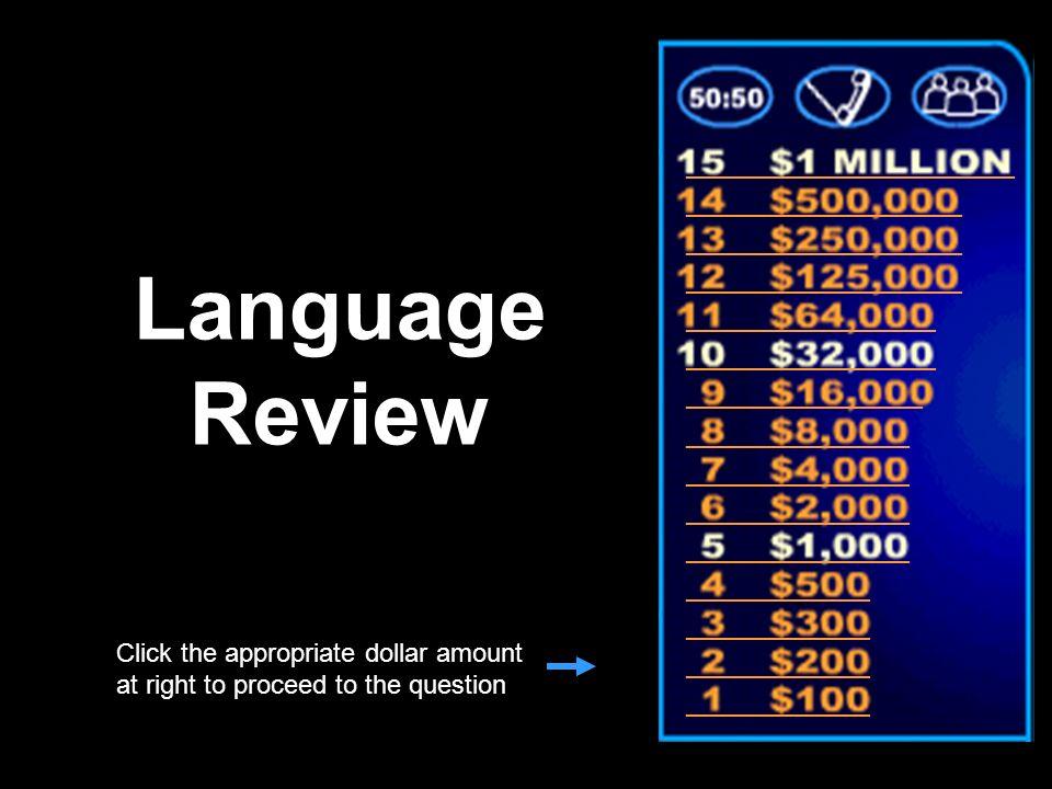 Language Review _________________________ _____________________