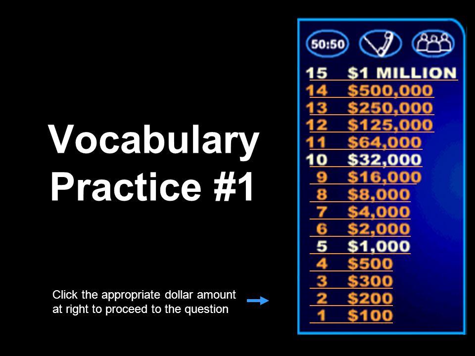 Vocabulary Practice #1 _________________________ _____________________