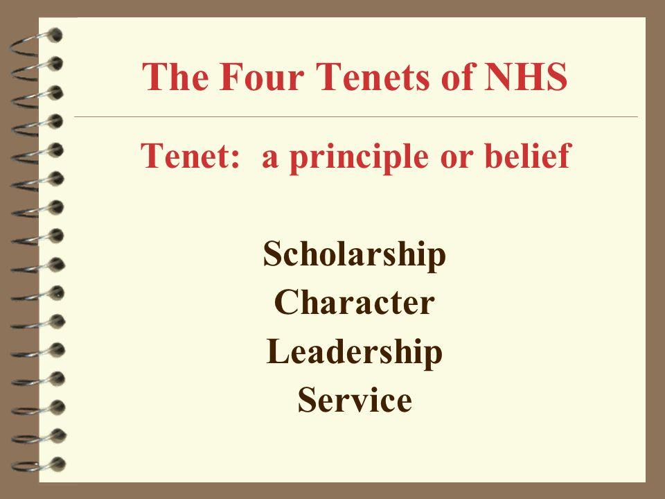 Tenet: a principle or belief