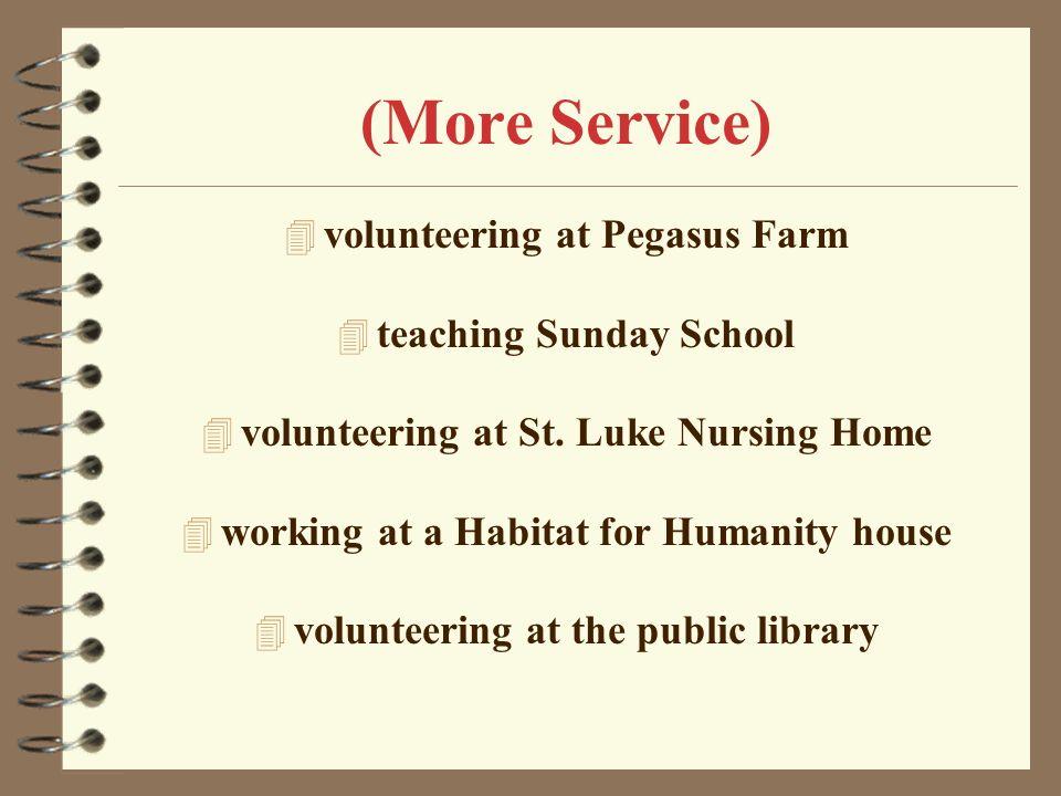 (More Service) volunteering at Pegasus Farm teaching Sunday School