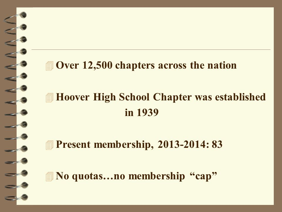 Over 12,500 chapters across the nation