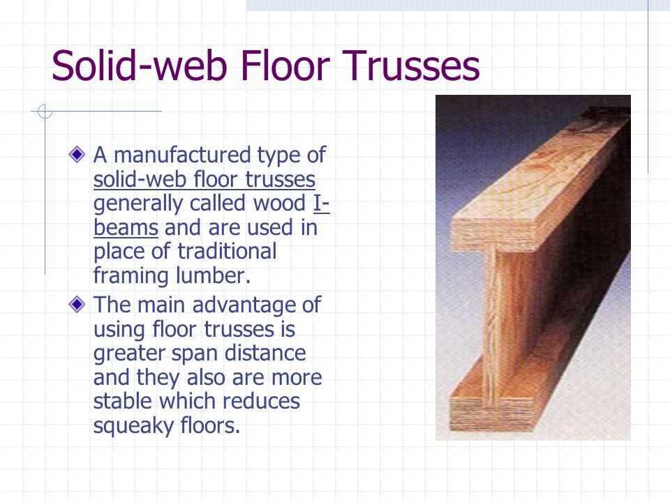Solid-web Floor Trusses