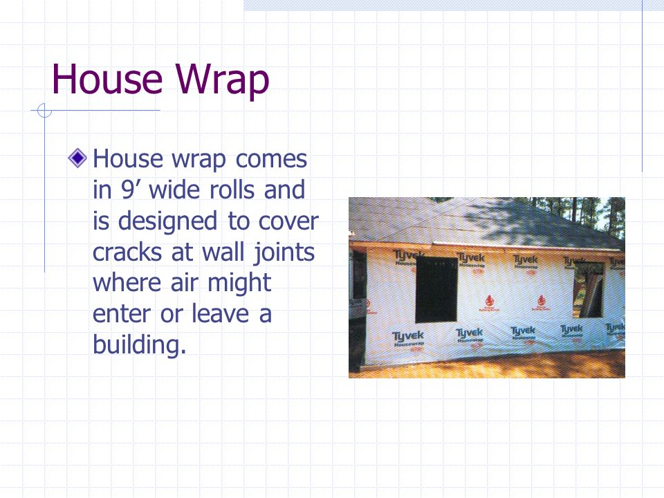 Framing ppt video online download for House wrap definition