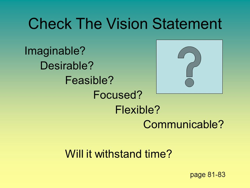 Check The Vision Statement