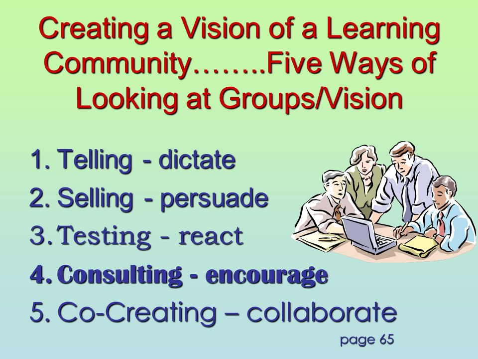Creating a Vision of a Learning Community……