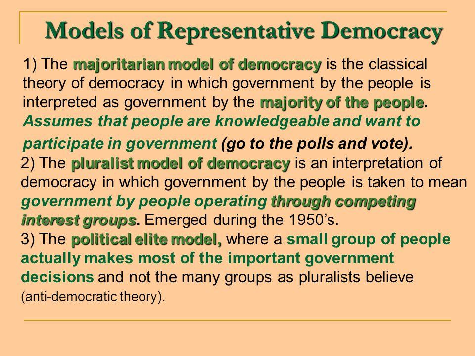 Models of Representative Democracy