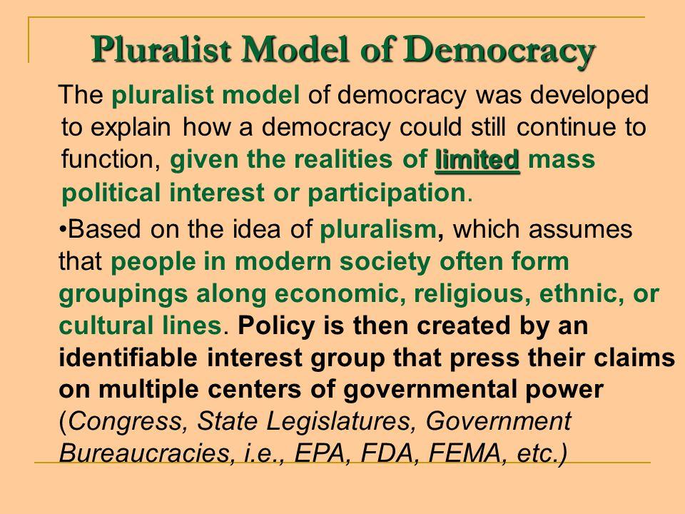 Pluralist Model of Democracy