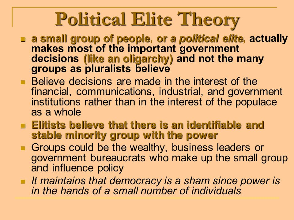 Political Elite Theory