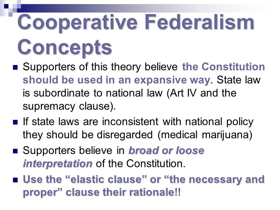 Cooperative Federalism Concepts