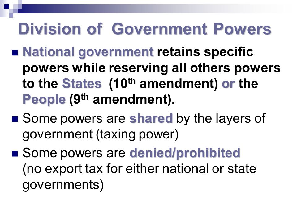 Division of Government Powers