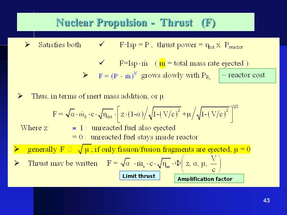 Nuclear Propulsion - Thrust (F)