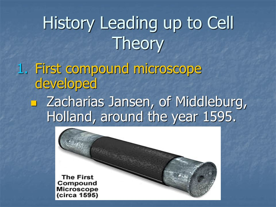 History Leading up to Cell Theory