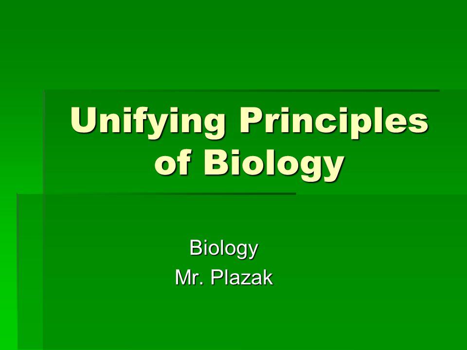 Unifying Principles of Biology