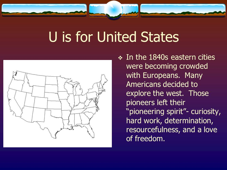 U is for United States