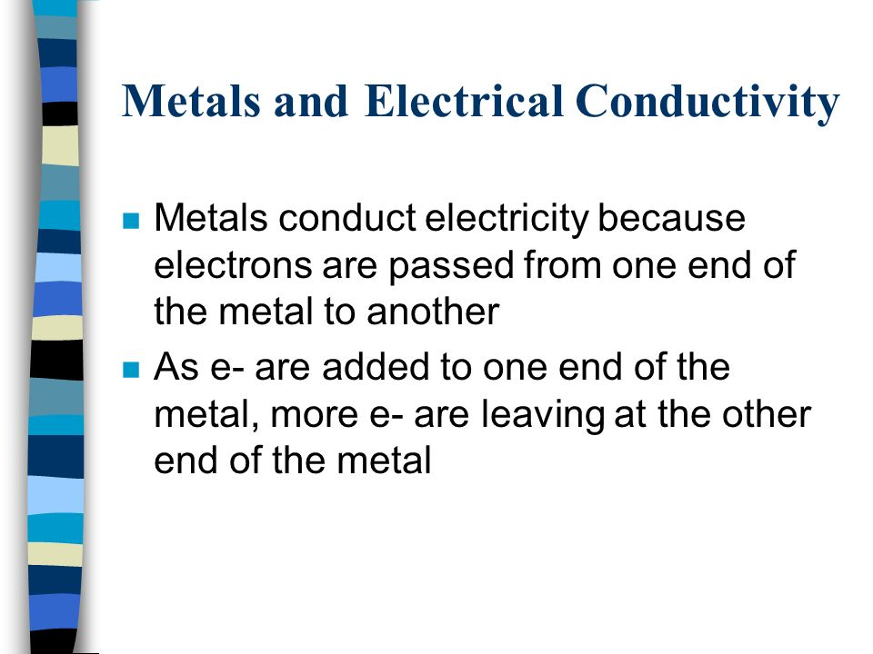 Metals and Electrical Conductivity