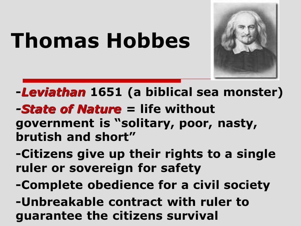 Thomas Hobbes -Leviathan 1651 (a biblical sea monster)