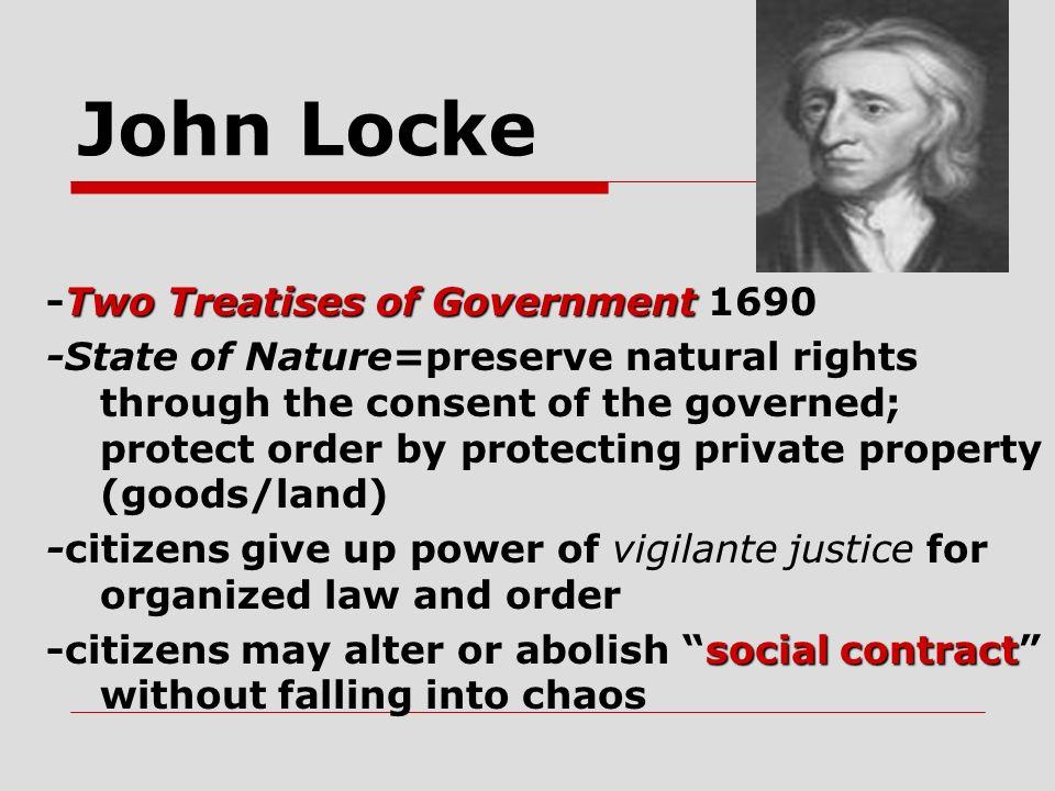 John Locke -Two Treatises of Government 1690
