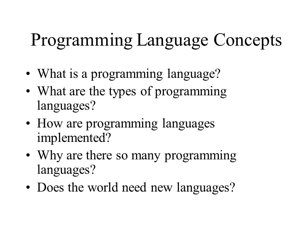 Languages And Compilers SProg Og Oversættere Ppt Download - Types of languages in the world