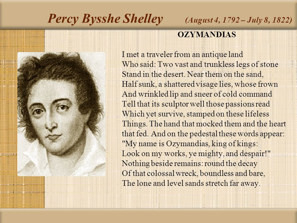 an analysis of the philosophical works on poetry by plato aristotle and percy bysshe shelley Aristotle (greek: ἀριστοτέλης, aristotélēs) (384 bc – 322 bc)[1] was a greek philosopher, a student of plato and teacher of alexander the great his writings cover many subjects, including physics, metaphysics, poetry, theater, music, logic, rhetoric, politics, government, ethics, biology, and zoology.