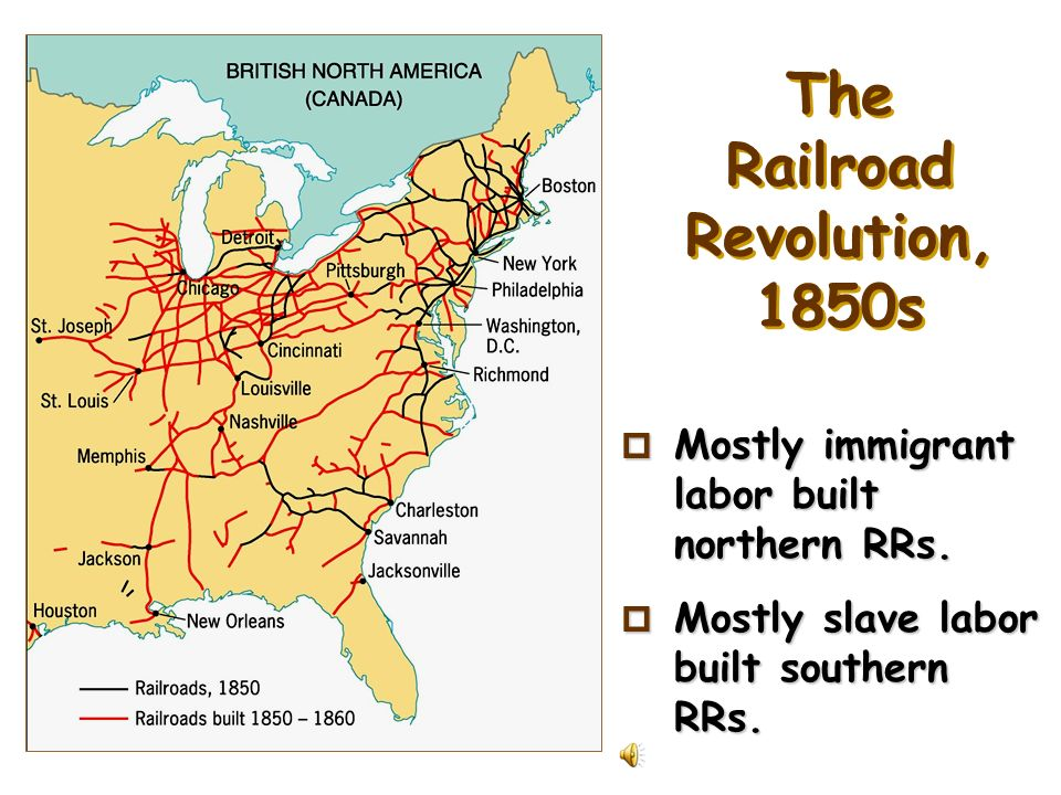 The Railroad Revolution, 1850s