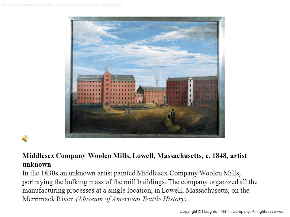 Middlesex Company Woolen Mills, Lowell, Massachusetts, c