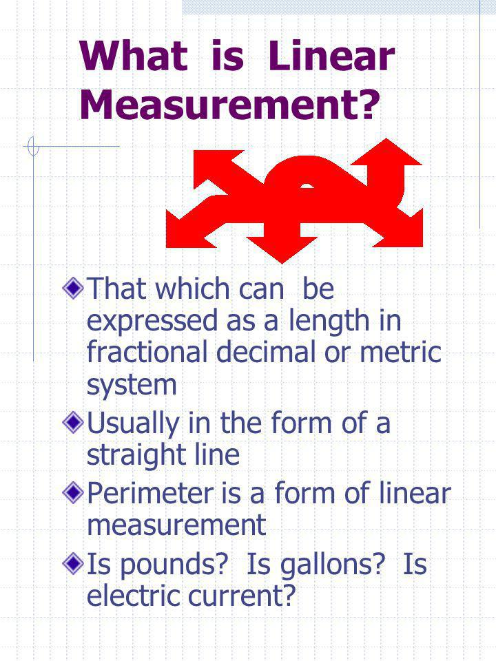 What is Linear Measurement