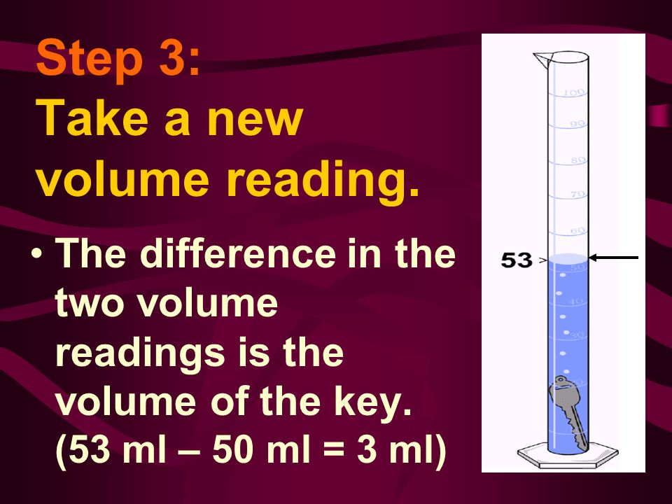 Step 3: Take a new volume reading.