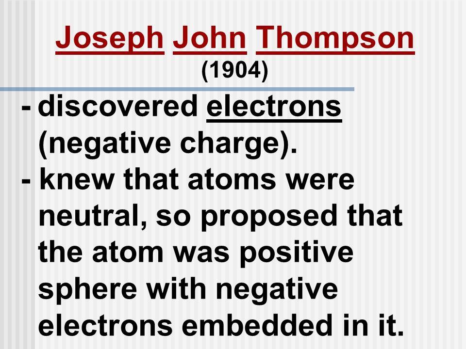 Joseph John Thompson (1904)