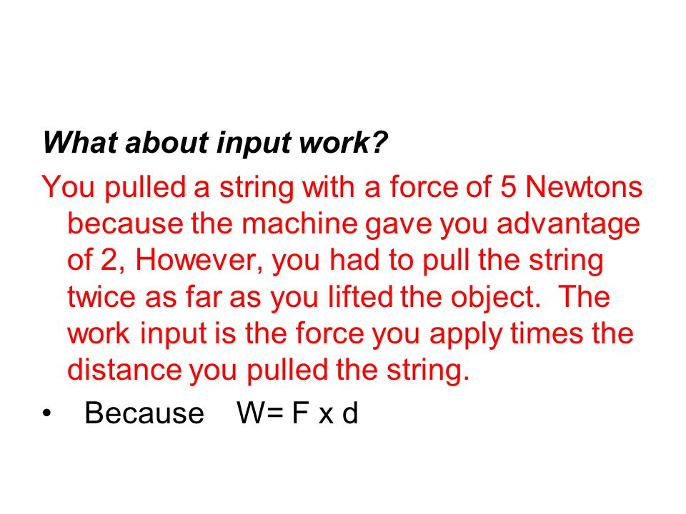 What about input work