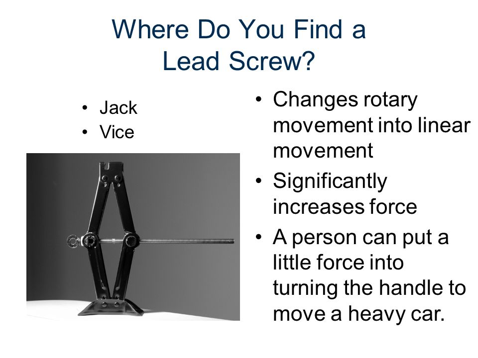 Where Do You Find a Lead Screw