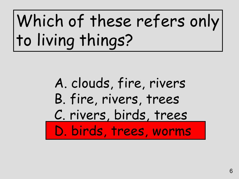 Which of these refers only to living things