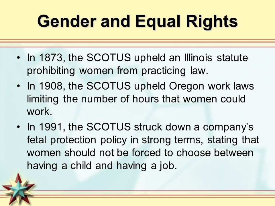 Gender and Equal Rights