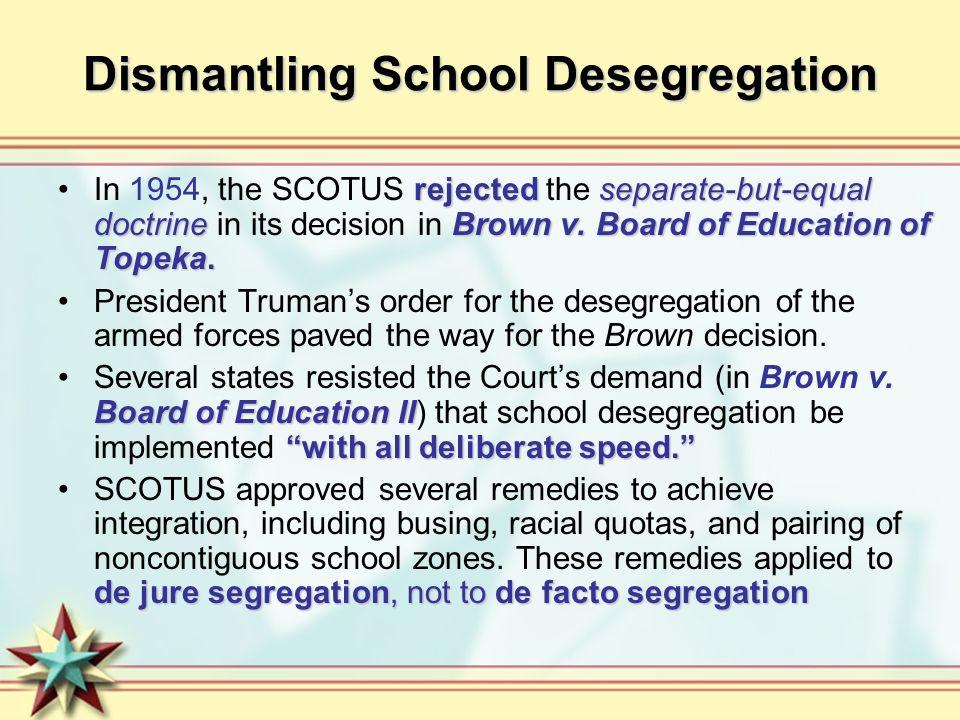 Dismantling School Desegregation