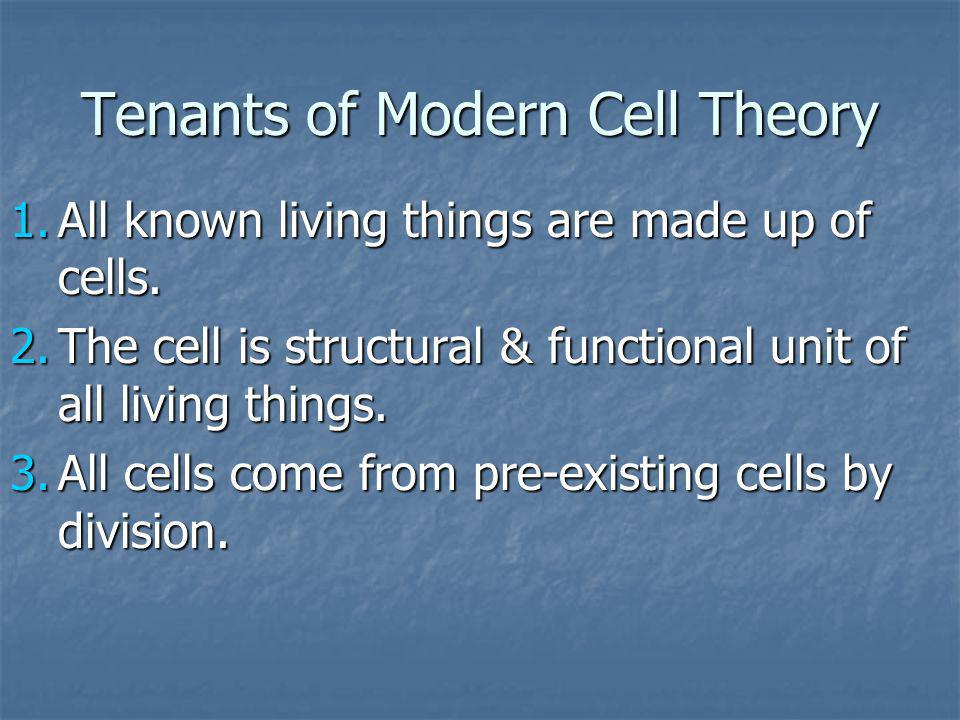 Tenants of Modern Cell Theory