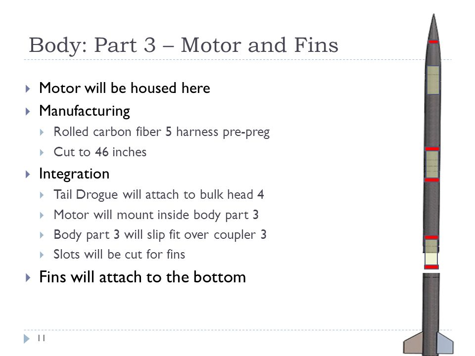 Body: Part 3 – Motor and Fins