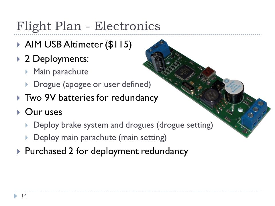 Flight Plan - Electronics