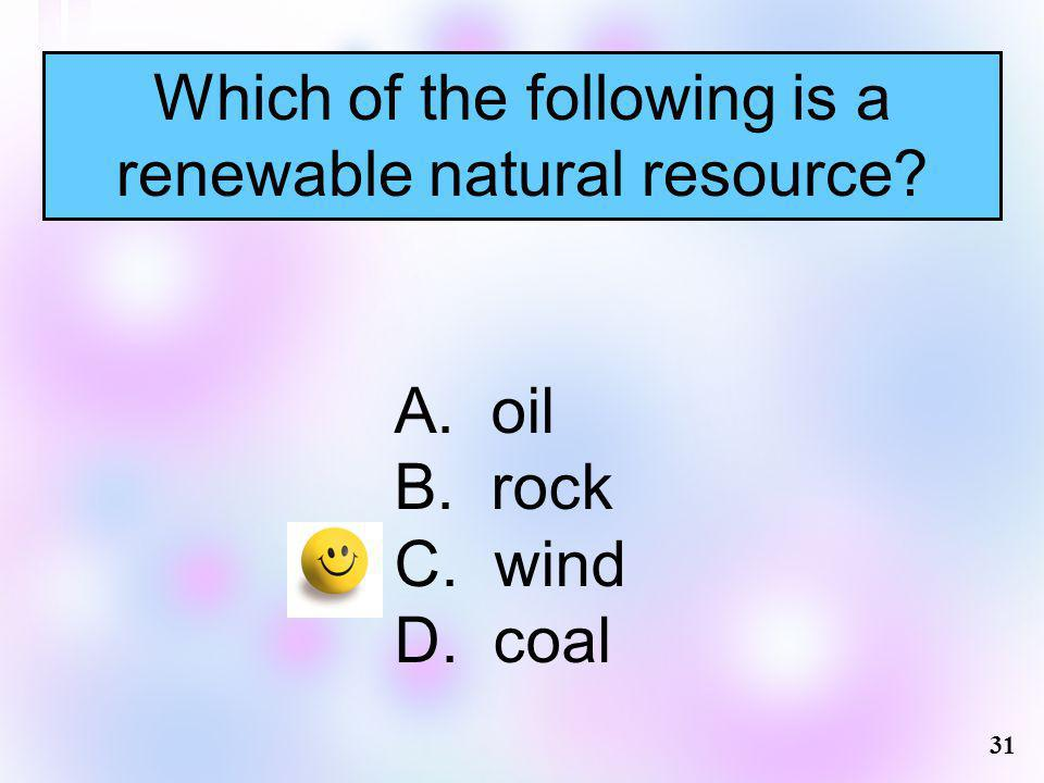 Which of the following is a renewable natural resource