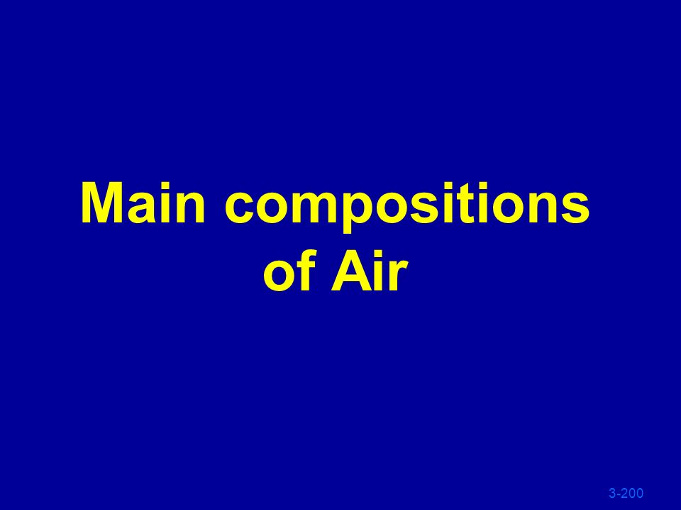 Main compositions of Air