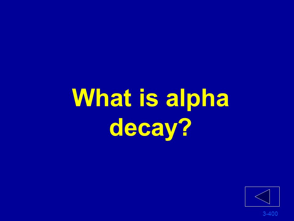 What is alpha decay 3-400
