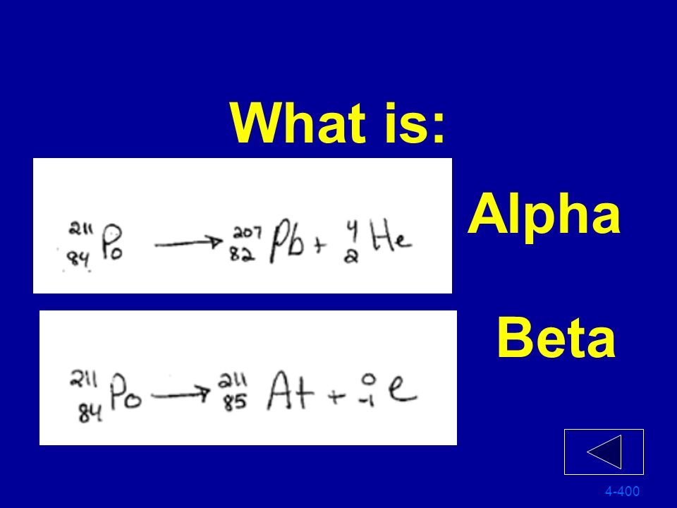 What is: Alpha Beta 4-400