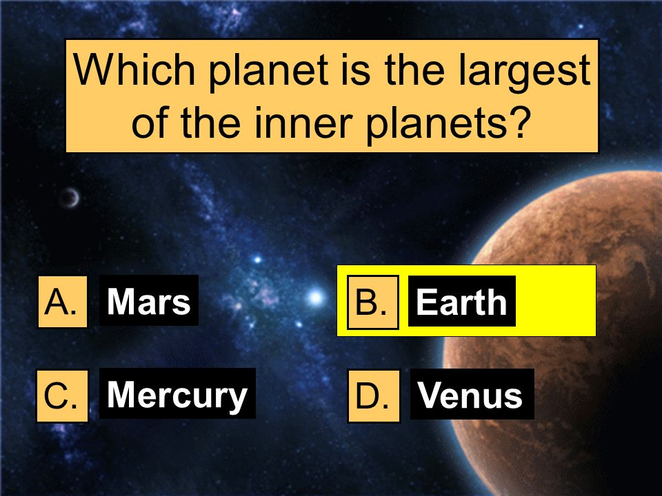 Which planet is the largest