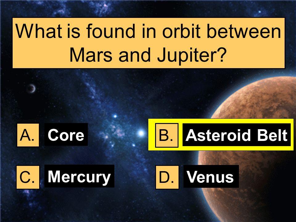 What is found in orbit between