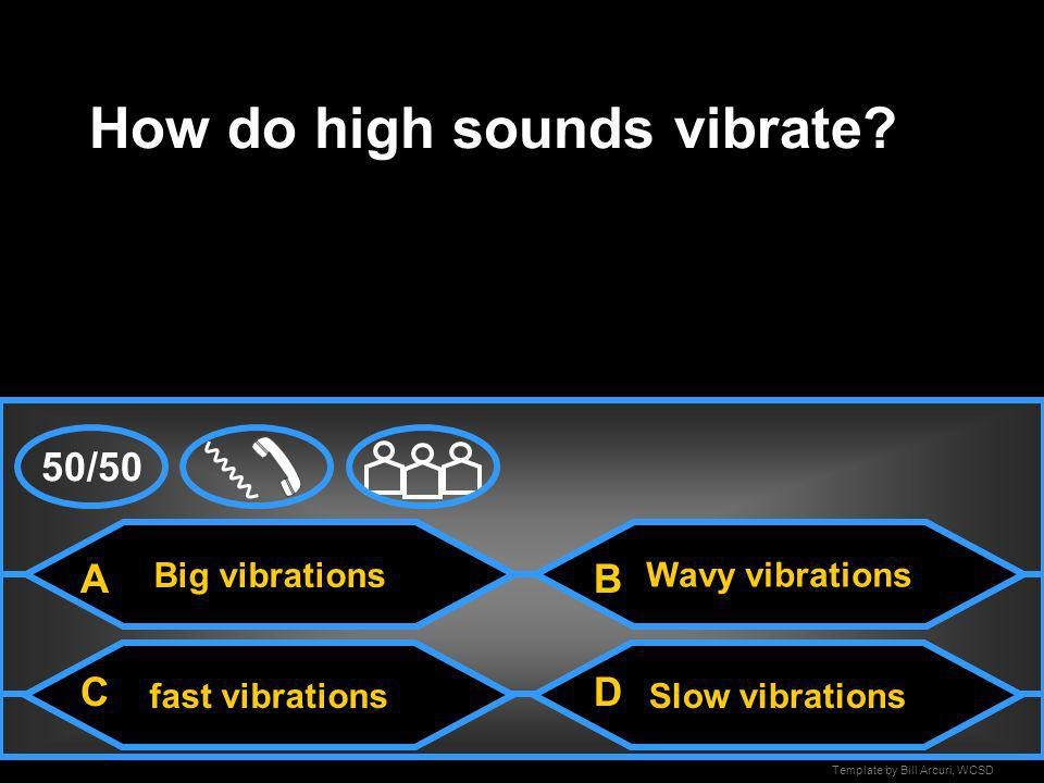How do high sounds vibrate