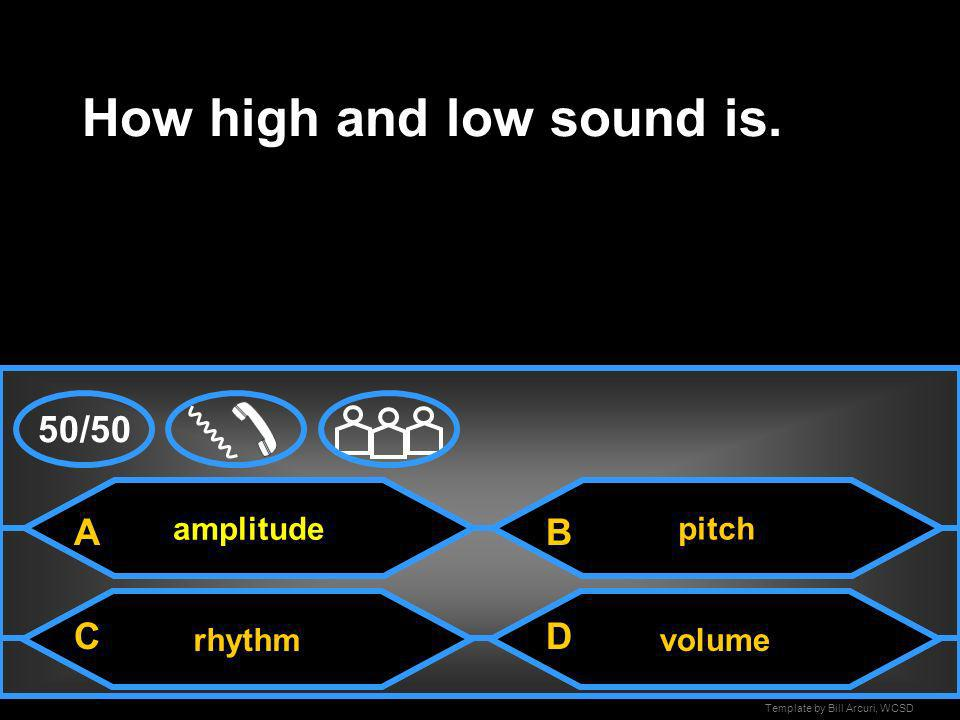 How high and low sound is.