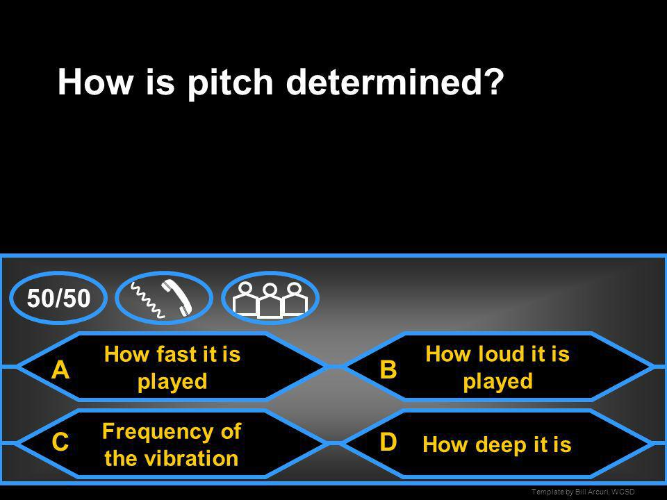 How is pitch determined