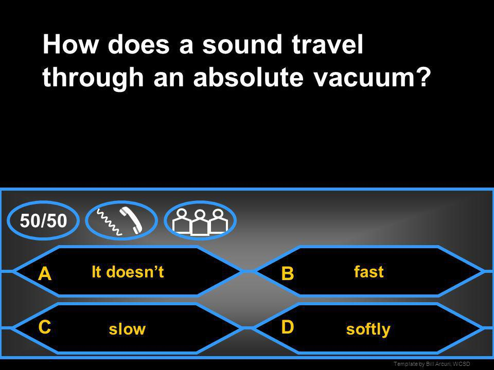 How does a sound travel through an absolute vacuum