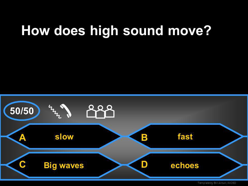 How does high sound move